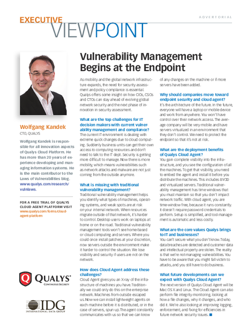 Vulnerability Management Begins at the Endpoint